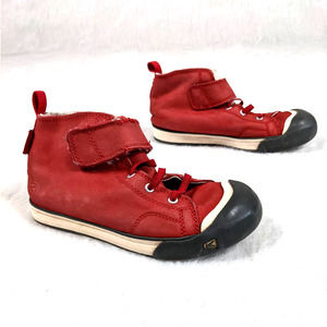 Keen Red High Top Suede Sneaker Shoes Kids size 13